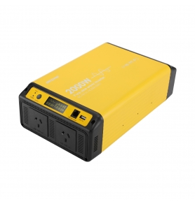China kilang 2000w gelombang sinus tulen 12v 24v 48v dc ke ac 230v 2000 watt solar power inverter dengan AU Socket