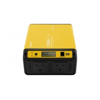 China 1.2kw dc 12v 24v 48v to ac 240v 1.2 kw pure sine wave power inverter with dual UK socket factory