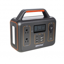 BRIDNA 300W 110v 60hz 26ah 280wh portable power station solar generator with lcd display